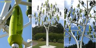 Small Wind Turbines For Home - artificial wind tree uses micro turbine leaves to generate
