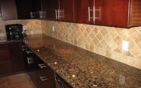 Baltic Brown Granite Countertops With Light Tan Backsplashwould - Countertop with backsplash