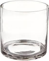 Cylinder Clear Glass Vases Amazon Com Cylinder Glass Vase 5x5 Home U0026 Kitchen