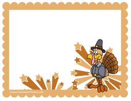 free thanksgiving border templates customizable printable