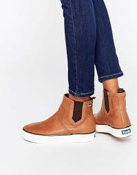 womens boots asos lyst keds chelsea boot in brown