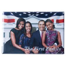 the obamas first family magnet is boxed with the white house seal