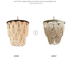 bead chandelier daily find pottery barn amelia wood bead chandelier copycatchic