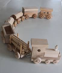 usa amish handcrafted wooden toy train set hout modellen