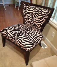 Zebra Accent Chair Zebra Print Chair Ebay