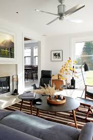 Mix Mid Century Modern With Traditional Living Room Mid Century Modern With Fireplace Subway Tile