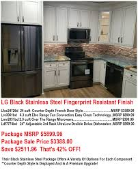 kitchen appliance package sale save 2500 lg black stainless kitchen appliance package sale