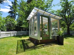 Greenhouse Shed Designs by Studio Sprout U0027s Backyard Greenhouse Combines Stylish Form With