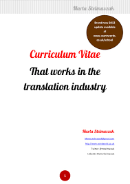 Curriculum Vitae Resume Definition by How To Write A Translator U0027s Cv