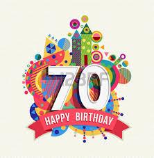 happy birthday seventy 70 year fun celebration greeting card