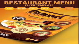 restaurant menu template psd free download youtube