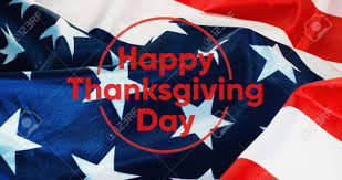 Thanksgiving Flags Happy Thanksgiving Banner Us Flag Background Stock Photo Picture