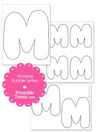 printable bubble letter m template from printabletreats com