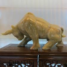 onyx sculpture powerful bull ornaments decoration onyx ornaments