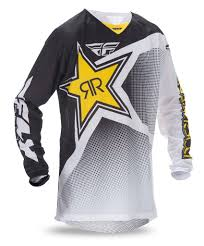 fly racing motocross aomc mx 2017 fly racing kinetic mesh rockstar jersey