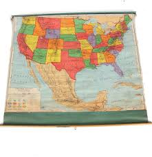 A Map Of United States 1956 Classroom Map Of United States By A J Nystrom U0026 Co Ebth