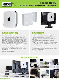 Cheif Wall Mount Amazon Com Hideit Miniu Mount Patented Mac Mini Wall Mount
