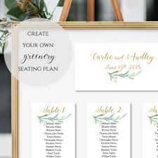 how to make table seating cards table seating cards greenery wedding seating cards to make any size