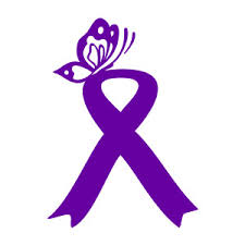 purple butterfly ribbon decal 6 99 cure4fibromyalgia or