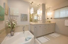 Pendant Bathroom Lights Bathroom Lighting Traditional Master Bath With Pendant Lights