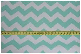 decor mint chevron zigzag cotton 100