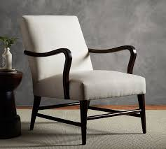 Upholstered Armchairs Living Room Emilia Upholstered Armchair Pottery Barn