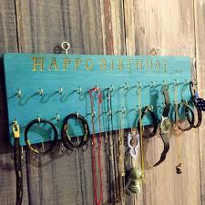 bracelet necklace organizer images Custom wood jewelry organizer necklace hanger bracelet holder jpg