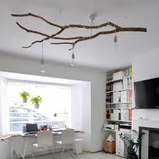Create A Chandelier Handmade Chandelier Made From A Tropical Tree Branch And Recycled