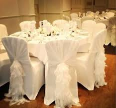 chair covers and sashes white wedding and ruffles chair cover sash for event decor