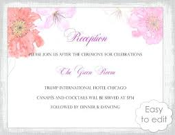 wedding reception invitation templates wedding reception invitations templates zoolook me