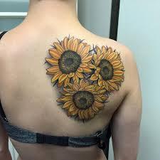 best sunflower on right back shoulder
