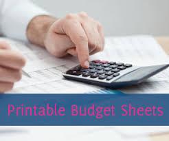 free printable budget worksheets download or print