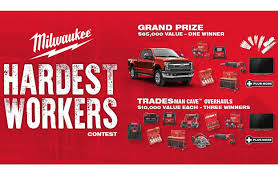 milwaukee hardest workers contest canadian woodworking and home