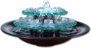 Contemporary Indoor Water Fountains by Bluworld Moonlight Glass Tabletop Fountain