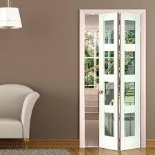 Sliding Kitchen Doors Interior Jb Kind Cayman White Primed Bifold Door Clear Safety Glass