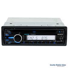 sony cdx m20 single din marine cd stereo receiver with front aux