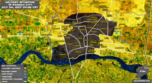 Us Cities Map Backed Forces Captured 18 Of Raqqa City Map