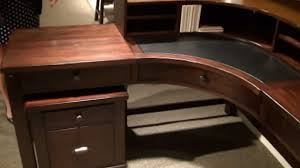 castlewood curved corner desk with hutch by riverside furniture