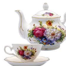Coffee Set bone china 15 coffee tea set colorful floral