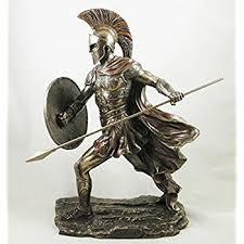 polished bronze japanese samurai warrior figurine samurai