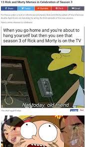 Mulan Meme - 13 rick and morty memes in celebration of season 3 saucer mulan