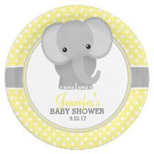 baby shower paper elephant plates zazzle