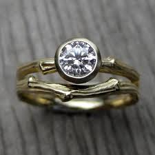 engagement jewelry sets forever one moissanite branch engagement ring wedding band