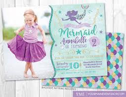 mermaid birthday invitation mermaid invite u0026 photo under