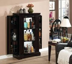 small liquor cabinet bar hutch small bar storage tall narrow wine