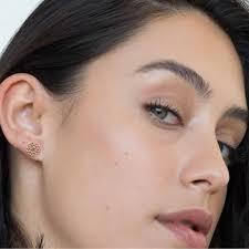 earing model dandelion stud earrings gold sixd