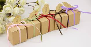 gift box with ribbon aliexpress buy 50pcs kraft gift box with ribbon and