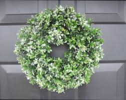 Artificial Christmas Wreaths To Be Decorated by Christmas Wreaths Winter Decor Boxwood Custom By Elegantwreath