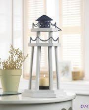 Lantern Centerpieces 15 White Lighthouse Wooden Candle Lantern Table Event Centerpieces