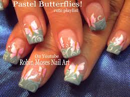 nail art diy easy pastel butterfly nails butterflies nail